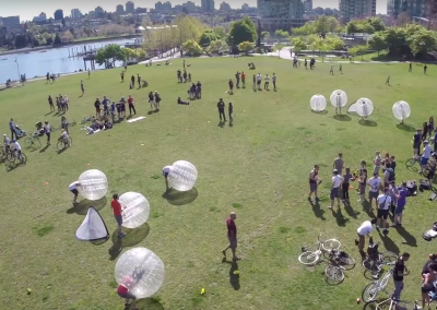 Large Bubble Soccer Game
